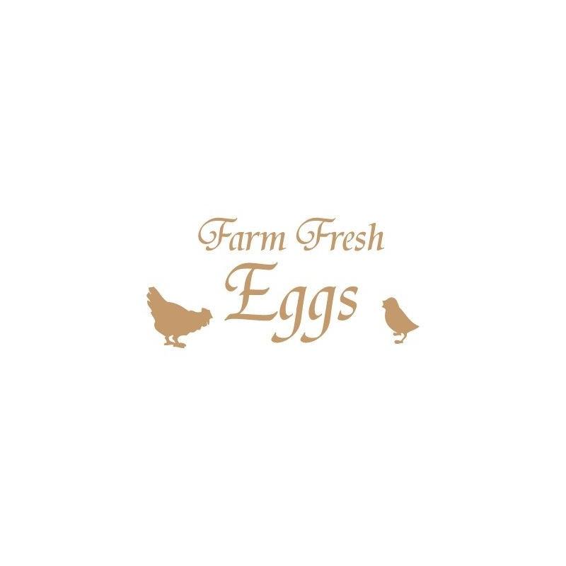 Stencil Deco Vintage Composición 110 Farm Fresh Eggs