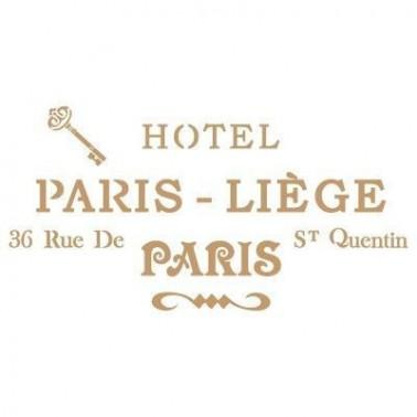 Stencil Deco Vintage Composición 113 Hotel Paris