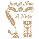 Stencil Deco Vintage Composición 116 Just A Note