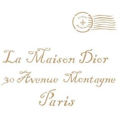 Stencil Deco Vintage Composición 118 Maison Dior