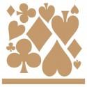 Stencil Deco Vintage Composición 131 Baraja Poker