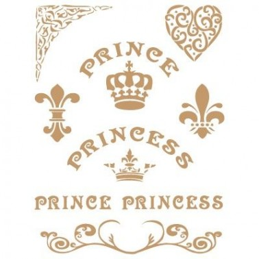 Stencil Deco Vintage Composición 136 Prince Princess