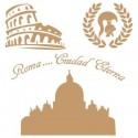 Stencil Deco Vintage Composición 137 Roma
