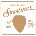 Stencil Deco Vintage Composición 144 Strawberries