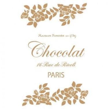 Stencil Deco Vintage Composición 151 Chocolat Paris