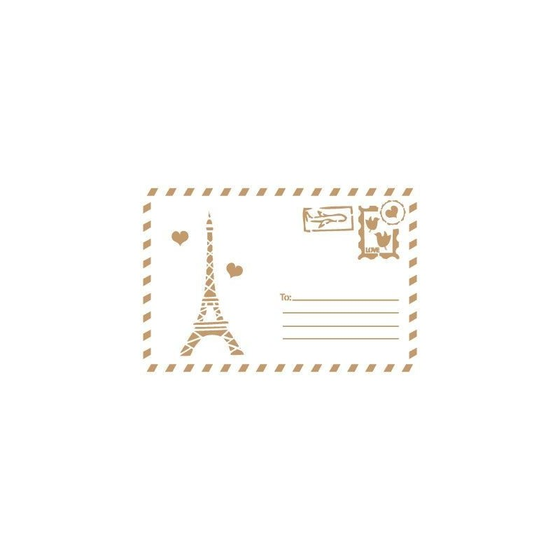 Stencil Deco Vintage Composición 152 Postal Paris