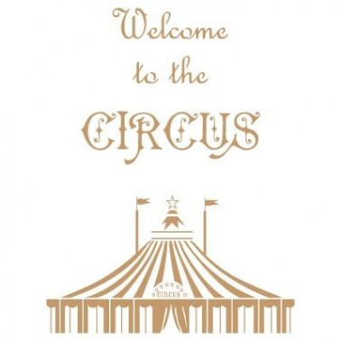 Stencil Deco Vintage Composición 154 Circus