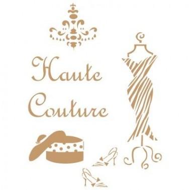 Stencil Deco Vintage Composición 157 Haute Couture