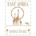 Stencil Deco Vintage Composición 158 East Africa