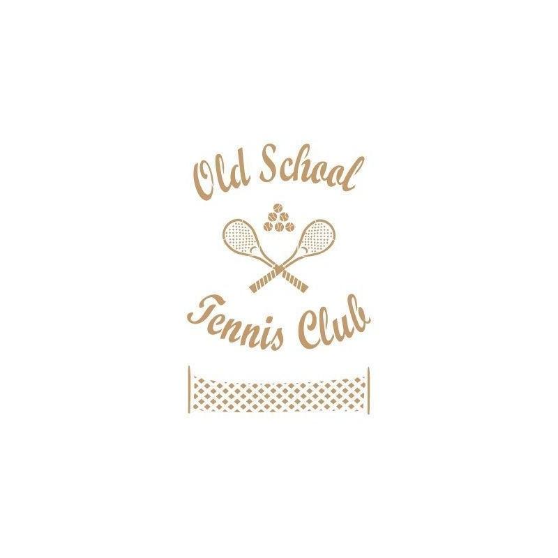 Stencil Deco Vintage Composición 161 Tennis Club