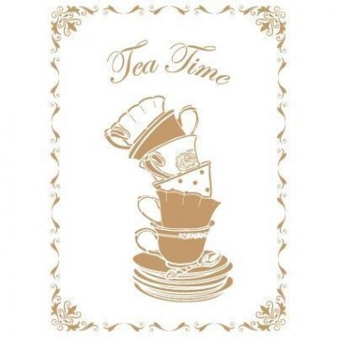 Stencil Deco Vintage Composición 163 Tea Time