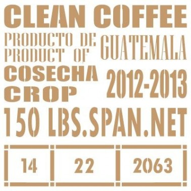 Stencil Deco Vintage Composición 166 Clean Coffee