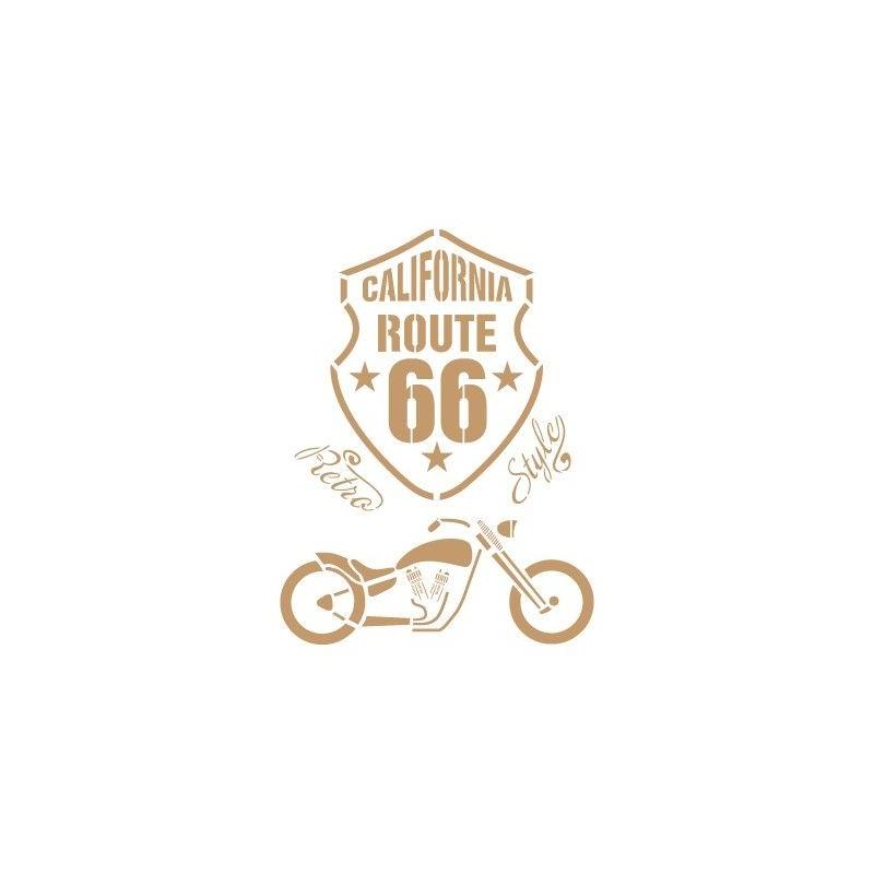 Stencil Deco Vintage Composición 171 Route 66