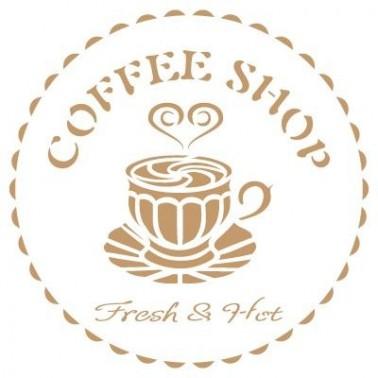 Stencil Deco Vintage Composición 177 Coffee Shop