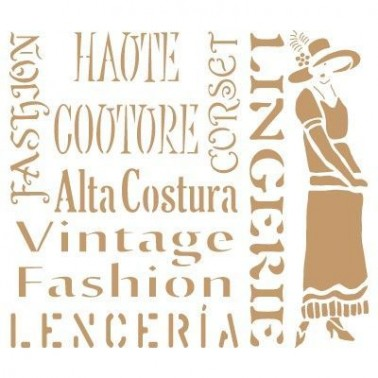 Stencil Deco Vintage Composición 184 Fashion