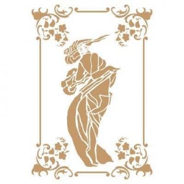 Stencil Deco Vintage Composición 189 Mujer Art Deco