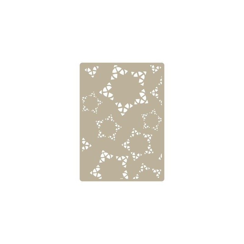 Stencil Deco Embossing 006 Estrellas
