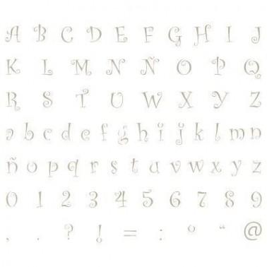 Stencil Mini Deco Abecedario 003