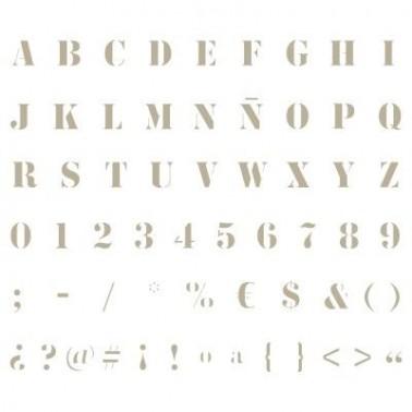 Stencil Mini Deco Abecedario 007