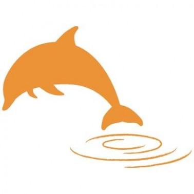 Stencil Aerografia Tattoo Animal 013 Delfin Saltando