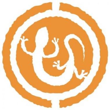Stencil Aerografia Tattoo Animal 014 Lagarto Circulo