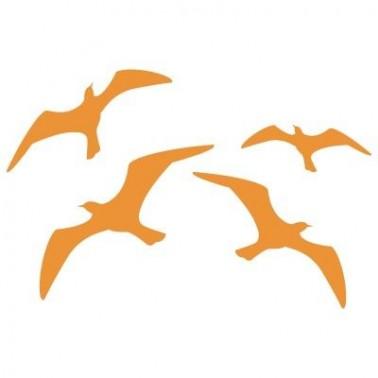 Stencil Aerografia Tattoo Animal 025 Gaviotas Volando