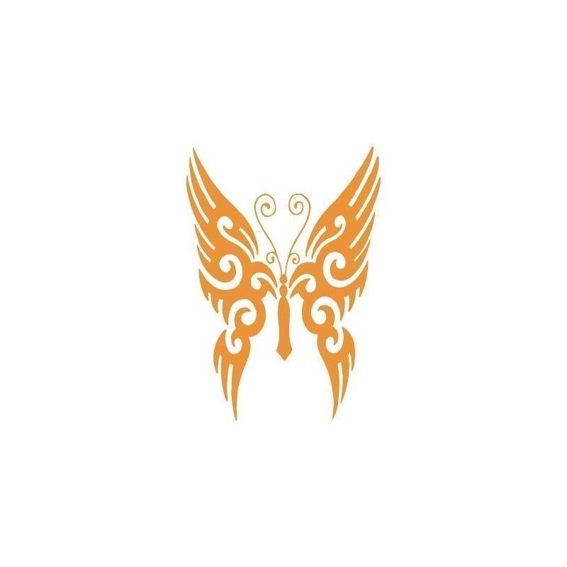 Stencil Aerografia Tattoo Animal 046 Mariposa