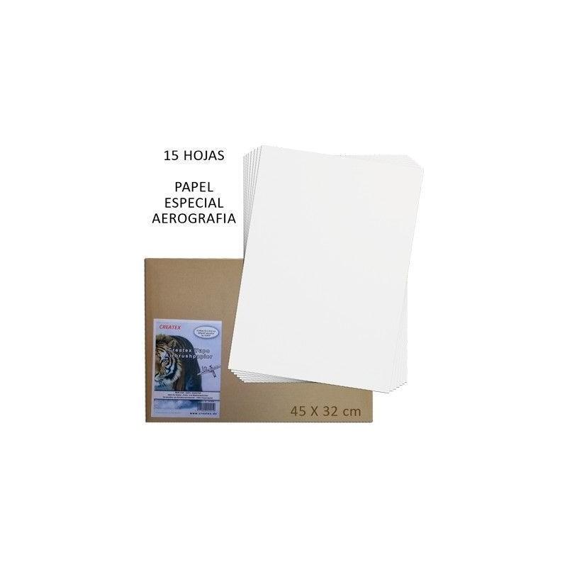 Papel Aerografia Createx 45x32cm 15 hojas