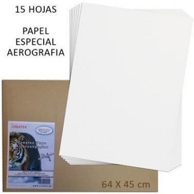 Papel Aerografia Createx 64x45cm 15 hojas
