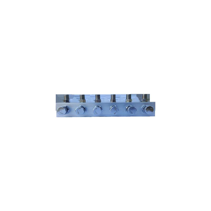 Conector 1/8 a 6 salidas 1/8 con regulador