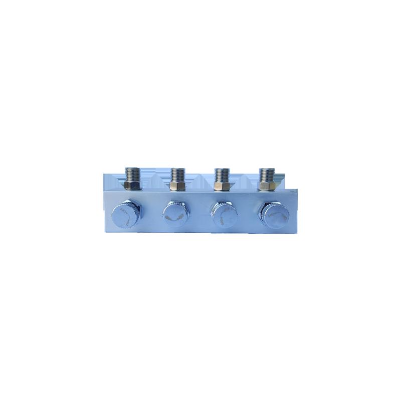 Conector 1/8 a 4 salidas 1/8 con regulador