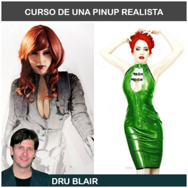 Curso Aerografía Retrato Pinup Dru Blair