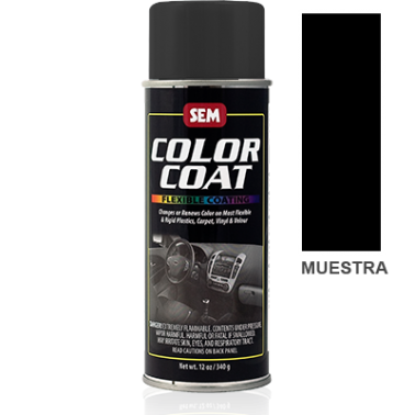 Pintura Polipiel Color Coat Negro Landau Black Aerosol