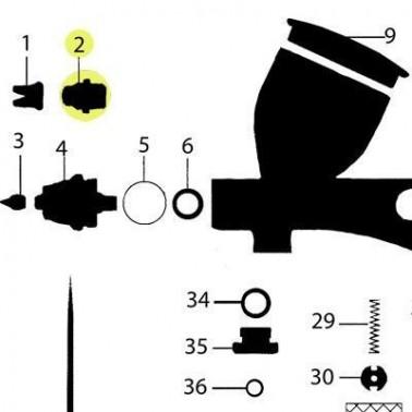 Recambio Tapa Boquilla  Aerografo Elite Q5