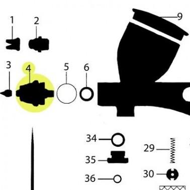Recambio Obturador Aerografo Elite Q5