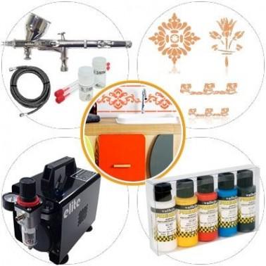 Airbrush Kit 022 Medium Level Crafts and Restoration