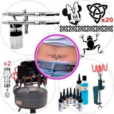 Kit Aerografia 054 Master Tatuaje Temporal