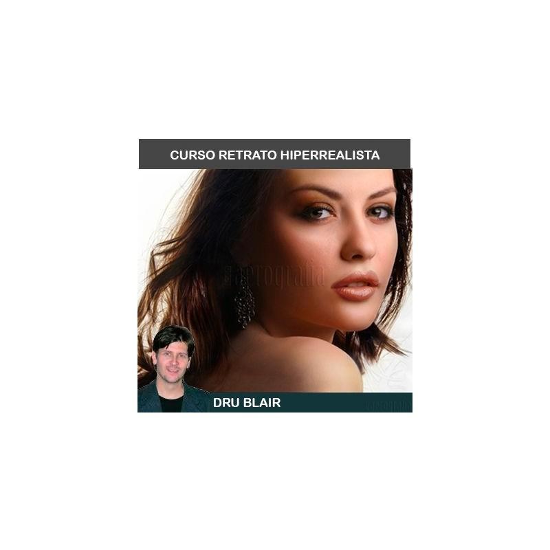 Curso Aerografía Retrato Dru Blair